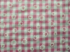 "1/4"" Daisy Gingham Quality Polycotton Fabric in Cerise"
